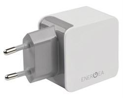 Сетевое зарядное устройство EnergEA 2 USB 3.4A (Цвет: Белый) - фото 17117