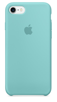 Оригинальный силиконовый чехол-накладка Apple для iPhone 7/8, цвет «синее море»  (MMX02ZM/A) - фото 17282