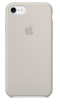 Оригинальный силиконовый чехол-накладка Apple для iPhone 7/8, цвет «бежевый»  (MMWR2ZM/A) - фото 17319