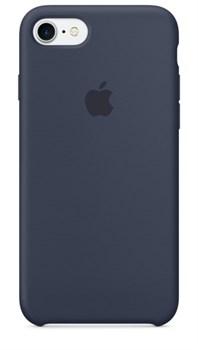 Оригинальный силиконовый чехол-накладка Apple для iPhone 7/8, цвет «темно-синий»  (MMWK2ZM/A) - фото 17354
