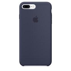 Оригинальный силиконовый чехол-накладка Apple для iPhone 7 Plus/8 Plus, цвет «темно-синий»  (MMQU2ZM/A) - фото 17375
