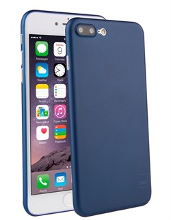 Чехол-накладка Uniq для iPhone 7 Plus/8 Plus  Bodycon Navy blue (Цвет: Голубой) - фото 17428