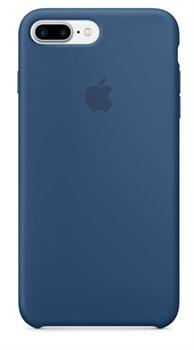 Оригинальный силиконовый чехол-накладка Apple для iPhone 7 Plus/8 Plus, цвет «глубокий-синий»  (MMQX2ZM/A) - фото 17466