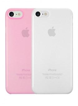Набор из двух чехлов-накладок Ozaki 0.3 Jelly для iPhone 7/8 (Цвет: Прозрачный и Розовый) - фото 17471