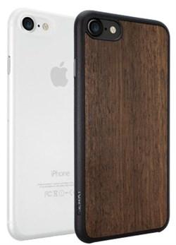 Набор из двух чехлов-накладок Ozaki Jelly и Ozaki Wood для iPhone 7/8 (Цвет: Прозрачный и Тёмно-коричневый) - фото 17487