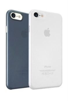 Набор из двух чехлов-накладок Ozaki 0.3 Jelly для iPhone 7/8 (Цвет: Прозрачный и Тёмно-синий) - фото 17503