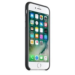 Оригинальный силиконовый чехол-накладка Apple для iPhone 7/8, цвет «чёрный цвет»  (MMW82ZM/A) - фото 17753