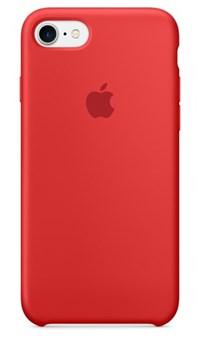 Оригинальный силиконовый чехол-накладка Apple для iPhone 7/8, цвет «(PRODUCT)RED»  (MMWN2ZM/A) - фото 17772