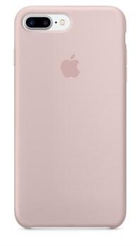 Оригинальный силиконовый чехол-накладка Apple для iPhone 7 Plus/8 Plus, цвет «розовый песок»  (MMT02ZM/A) - фото 17820