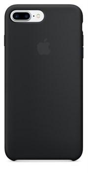Оригинальный силиконовый чехол-накладка Apple для iPhone 7 Plus/8 Plus, цвет «чёрный цвет»  (MMQR2ZM/A) - фото 17885