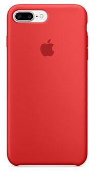 Оригинальный силиконовый чехол-накладка Apple для iPhone 7 Plus/8 Plus, цвет «(PRODUCT)RED»  (MMQV2ZM/A) - фото 17904