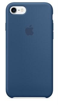 Оригинальный силиконовый чехол-накладка Apple для iPhone 7/8, цвет «глубокий синий»  ( MMWW2ZM/A ) - фото 17914