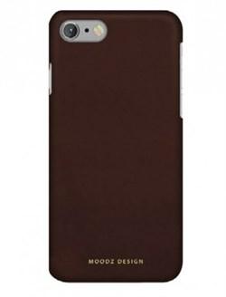Чехол-накладка Moodz для iPhone 7/8 Nubuck Hard Chocolate ,цвет «коричневый» (MZ901002) - фото 17963