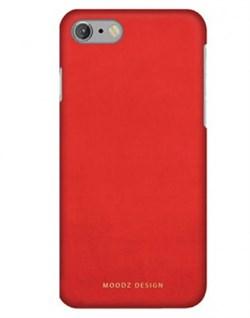 Чехол-накладка Moodz для iPhone 7/8 Nubuck Hard Ocean, цвет «красный» (MZ656073) - фото 17978