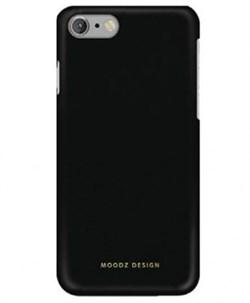 Чехол-накладка Moodz для iPhone 7/8 Soft leather Hard Notte,  цвет «черный» (MZ655730) - фото 17991