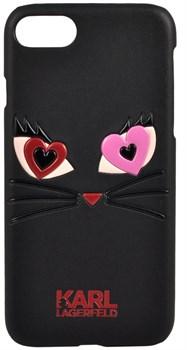 Чехол-накладка Lagerfeld iPhone 7/8 Choupette in love 2 Hard PU, цвет «черный» (KLHCP7CL2BK) - фото 18013