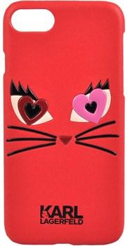 Чехол-накладка Lagerfeld iPhone 7/8 Choupette in love 2 Hard PU, цвет «красный» (KLHCP7CL2RE) - фото 18021