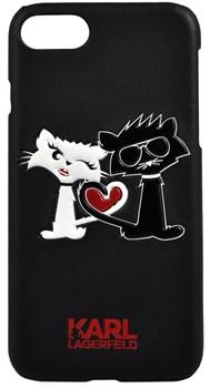 Чехол-накладка Lagerfeld iPhone 7/8 Choupette in love  Hard PU, цвет «черный» (KLHCP7CL1BK) - фото 18027