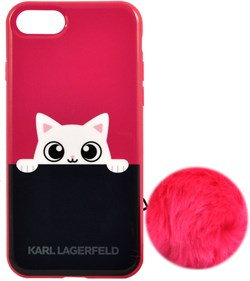 Чехол-накладка Lagerfeld iPhone 7/8 K-Peek A Boo Hard TPU, цвет «розовый» (KLHCP7PABPI) - фото 18098
