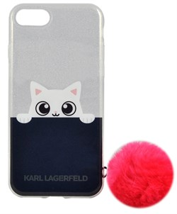 Чехол-накладка Lagerfeld iPhone 7/8 K-Peek A Boo Hard Transparent TPU Pink, цвет «розовый» (KLHCP7TRGPABPI) - фото 18101