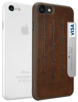 Набор из двух чехлов-накладок Ozaki Jelly и Ozaki Pocket для iPhone 7/8  «Цвет: Jelly прозрачный/Pocket коричневый» (OC722BC) - фото 18437