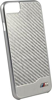 Чехол-накладка BMW для iPhone 7/8 M-Collection Aluminium&Carbon Hard Silver, цвет «серебряный» (BMHCP7MDCS) - фото 18532