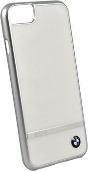 Чехол-накладка BMW для iPhone 7/8 Signature Aluminium stripe Hard PC+alumin , цвет «белый» (BMHCP7ASWH) - фото 18535