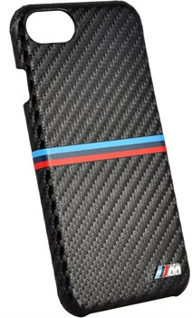 Чехол-накладка BMW для iPhone 7/8 M-Collection Carbon inspiration Hard PU , цвет «черный» (BMHCP7MSSCA) - фото 18544