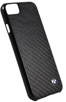 ЧЕХОЛ-НАКЛАДКА BMW для iPhone 7/8 Signature Real carbon Hard, ЦВЕТ «ЧЕРНЫЙ» (BMHCP7MBC) - фото 18556