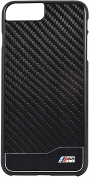 Чехол-накладка BMW для iPhone 7 Plus/8 Plus  M-Collection Aluminium&Carbon Hard, Цвет «Черный» (BMHCP7LMDCB) - фото 18563