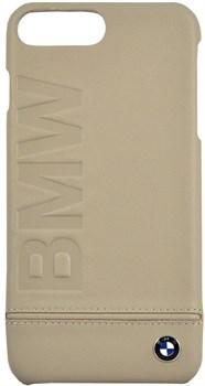 Чехол-накладка BMW для iPhone 7 Plus/8 Plus  Signature Logo imprint Hard Leather Black,  Цвет «Бежевый» (BMHCP7LLLST) - фото 18588