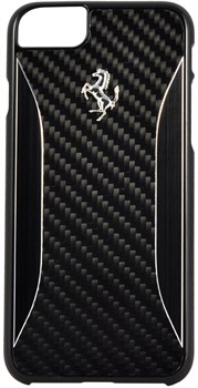 Чехол-накладка Ferrari для iPhone 7/8 GT Experience Hard Carbon-Aluminium , Цвет «Черный» (FERCHCP7BK) - фото 18594