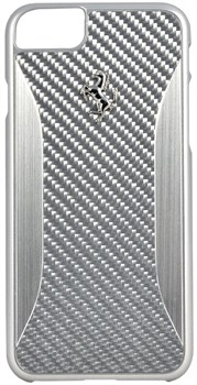 Чехол-накладка Ferrari для iPhone 7/8 GT Experience Hard Carbon-Aluminium Silver, Цвет «Серебряный» (FERCHCP7SI) - фото 18600