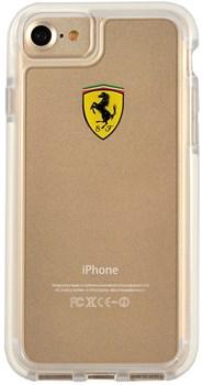 Чехол-накладка Ferrari для iPhone 7/8 Shockproof Hard PC Transparent, Цвет «Прозрачный» (FEGLHCP7TR) - фото 18609