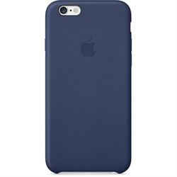 Оригинальный кожаный чехол-накладка Apple для iPhone 6/6s цвет «Синий» (MGR32ZM/A) - фото 18624