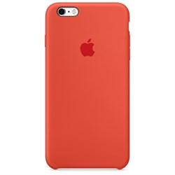 Оригинальный силиконовый чехол-накладка Apple для iPhone 6/6s цвет «оранжевый» (MKY62ZM/A) - фото 19065