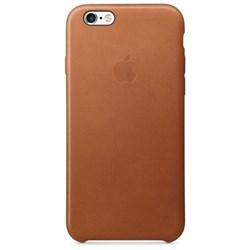 Оригинальный кожаный чехол-накладка Apple для iPhone 6/6s цвет «золотисто-коричневый» (MKXT2ZM/A) - фото 19342