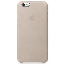 Оригинальный кожаный чехол-накладка Apple для iPhone 6/6s цвет «Телесный» (MKXV2ZM/A) - фото 19426