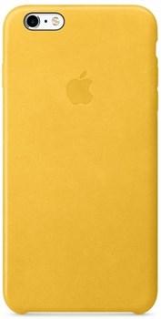 Оригинальный кожаный чехол-накладка Apple для iPhone 6/6s цвет «весенняя мимоза» (MMM22ZM/A) - фото 19484