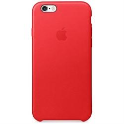 Оригинальный кожаный чехол-накладка Apple для iPhone 6/6s цвет «красный» (MKXX2ZM/A) - фото 19709