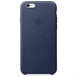 Оригинальный кожаный чехол-накладка apple для iPhone 6/6S Plus, цвет «Темно-синий» (MKXD2ZM/A) - фото 19808
