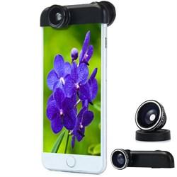 Объектив-линза Lieqi набор 3 в 1: Fisheye,Макро объектив,широкоугольная линза для iPhone 6 Цвет: Чёрный (LQ-018) - фото 20090