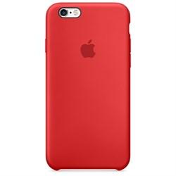 Оригинальный силиконовый чехол-накладка Apple для iPhone 6/6s цвет «красный» (MKY32ZM/A) - фото 20179