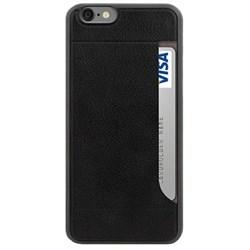 Чехол-накладка Ozaki + Pocket для iPhone 6/6s plus с дополнительным отделением Цвет: Чёрный (OC597BK) - фото 20644
