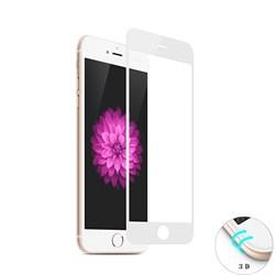 Защитное стекло Ainy Tempered Glass 3D для iPhone 6/6s Plus на весь экран с закруглением (Цвет: Белый, толщина 0.33 мм) - фото 20679