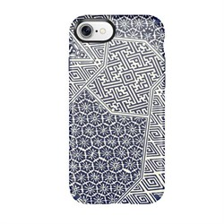 "Чехол-накладка Speck Presidio Inked для iPhone 7/8,  дизайн Shibori Tile Blue Matte/Marine Blue"" (79990-5757) - фото 20799"