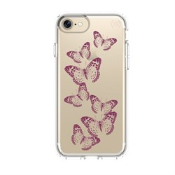 "Чехол-накладка Speck Presidio + Print для iPhone 7/8,  дизайн brilliant butterflies rose gold/clear"" (79991-5947) - фото 20809"