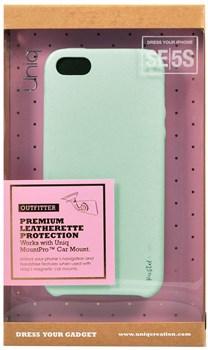 "Чехол-накладка Uniq для iPhone SE/5S Outfitter Pastel green, цвет ""Бирюзовый"" (IPSEHYB-PASGRN) - фото 22361"