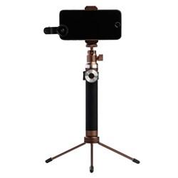 """Монопод Noosy King Kong Selfie Stick, премиальный набор 3 в 1, цвет """"Бронзовый"""" (BR12) - фото 22513"""