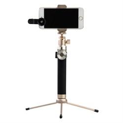 """Монопод Noosy King Kong Selfie Stick, премиальный набор 3 в 1, цвет """"золотой"""" (BR12) - фото 22542"""